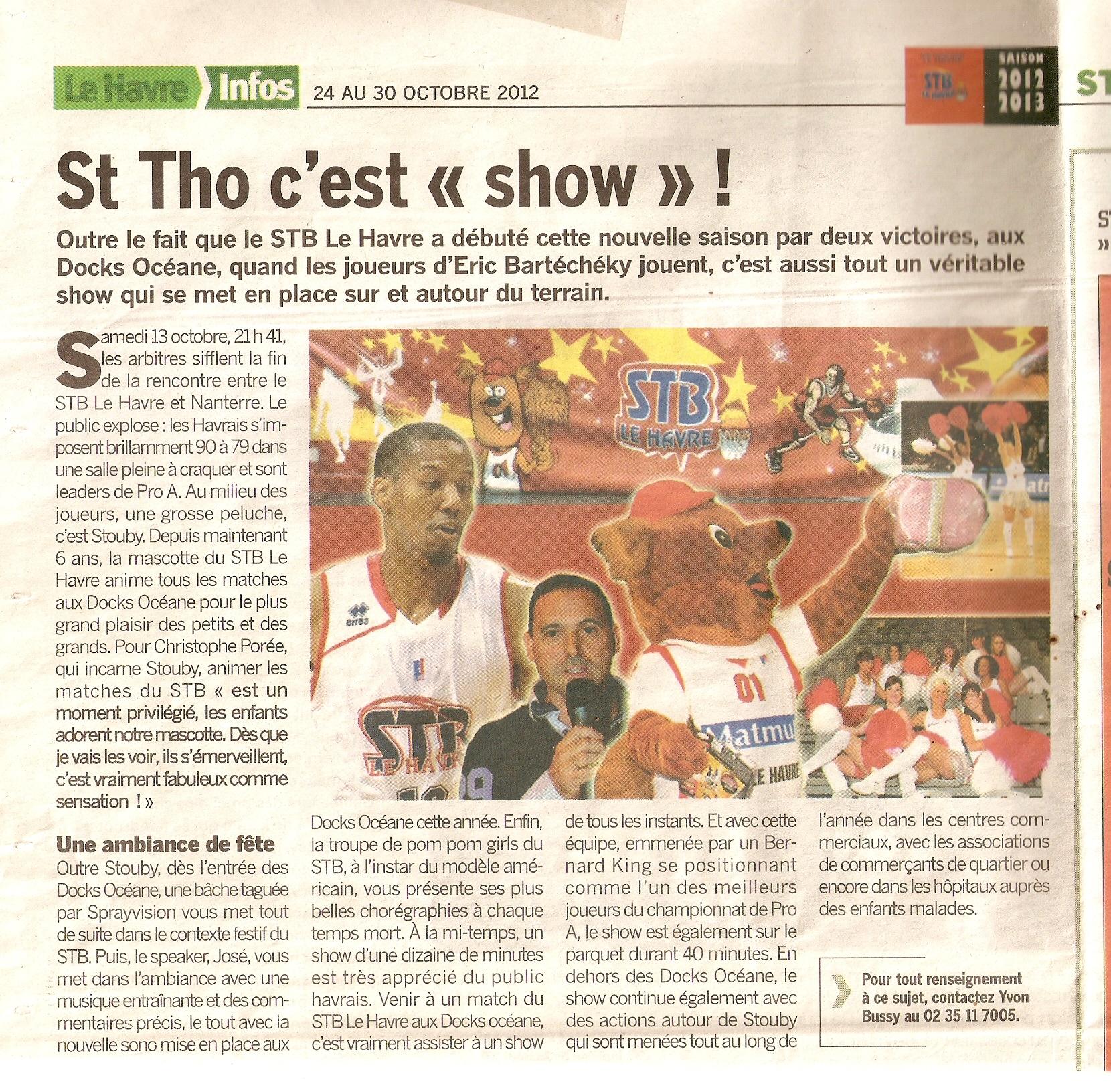 Partenariat avec Saint Thomas Basket